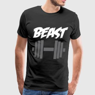 Daddy Beast And Baby Beast In Training Matching Gy - Men's Premium T-Shirt