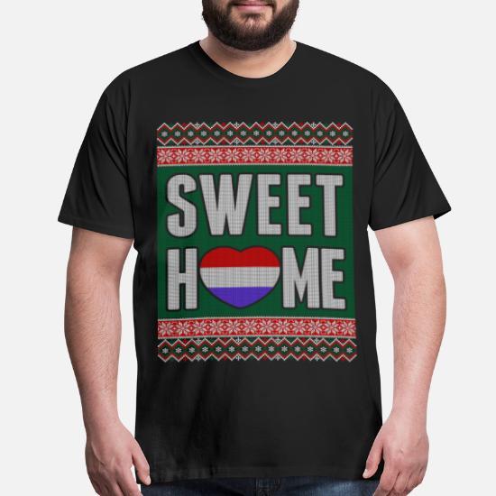 Superhero Ugly Christmas Sweaters.Sweet Dutch Home Ugly Christmas Sweater Men S Premium T