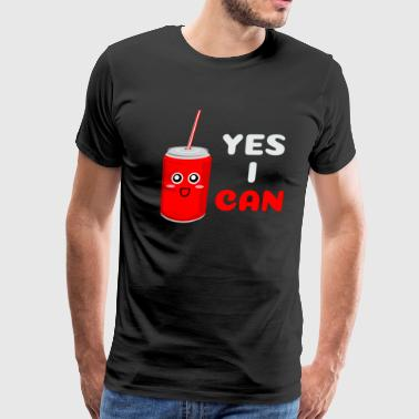 Stuff Yes I Can Funny Can Pun - Men's Premium T-Shirt