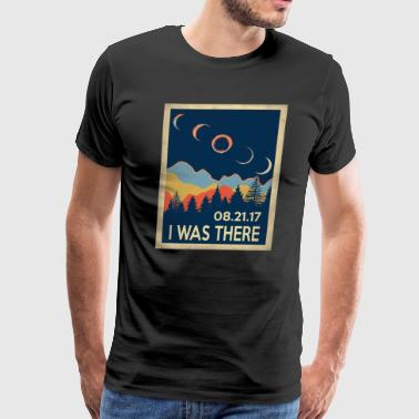 Vintage I was there Solar Eclipse 2017 - Men's Premium T-Shirt