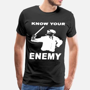 Anarchist Know Your Enemy Pig Anti Police Ac Ab Antifa Hoo - Men's Premium T-Shirt
