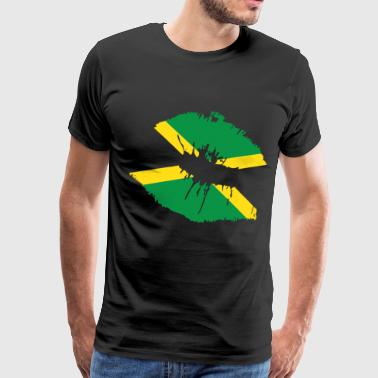 Jamaican Flag Lips Country Pride Jamaica Nationali - Men's Premium T-Shirt