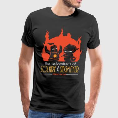 The adventures of solaire and siegmeyer praise the - Men's Premium T-Shirt