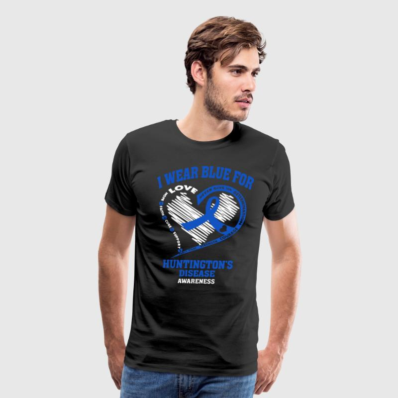 I wear blue for huntington's disease awareness - Men's Premium T-Shirt