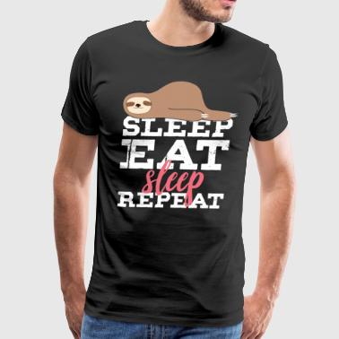 sleep eat sleep repeat - Men's Premium T-Shirt
