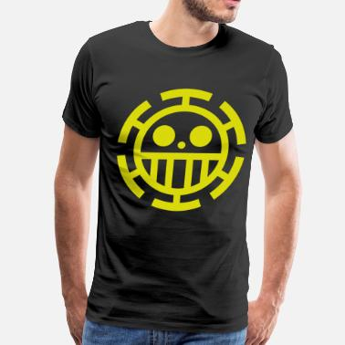Nico Robin trafalgar law logo black - Men's Premium T-Shirt