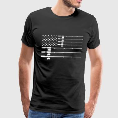 Sexy Fisherman Fishing American Flag - Fisherman Gift - Men's Premium T-Shirt