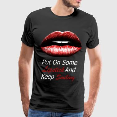 Red lips (white) - Men's Premium T-Shirt