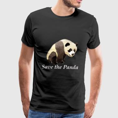 save the panda greenpeace animal bear - Men's Premium T-Shirt