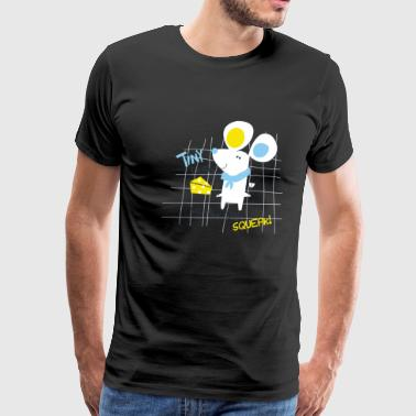 T-Shirt Cute little mouse cartoon cheese - Men's Premium T-Shirt