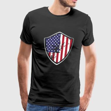American Shield Flag - Men's Premium T-Shirt