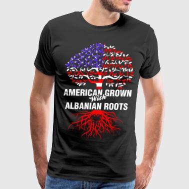 American Grown With Albanian Roots - Men's Premium T-Shirt