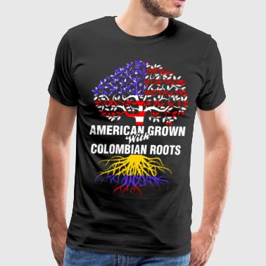 American Grown With Colombian Roots - Men's Premium T-Shirt