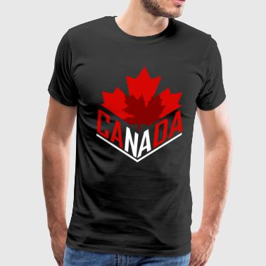 Canada Canadian Flag Nation Toronto Maple Leaf - Men's Premium T-Shirt