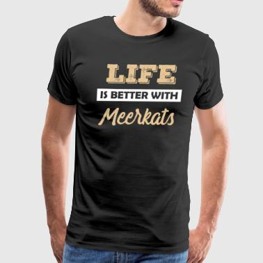 Meerkat animal gift idea - Men's Premium T-Shirt
