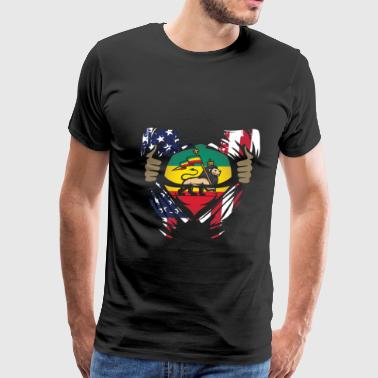 Vintage Funny Jamaican Blood Gift for Americans of Jamaican Heritage - Men's Premium T-Shirt
