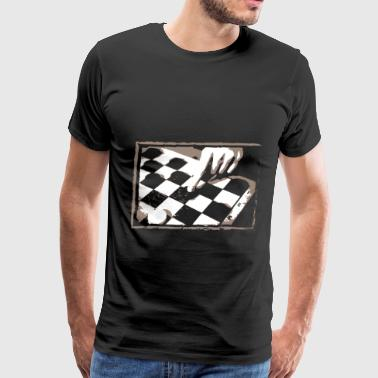 Checkerboard Game Design Gift for Boardgame Lovers of Chess, Checkers or Draughts - Men's Premium T-Shirt