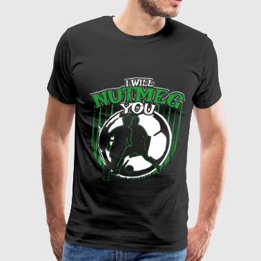 Mom Football Funny Soccer Gift for Soccer Coaches, Players and Fans - Men's Premium T-Shirt