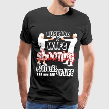 Husband And Wife Shooting Partners Of Life T Shirt - Men's Premium T-Shirt