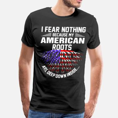 Slang American Roots Are Deep Down Inside - Men's Premium T-Shirt