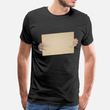 Cardboard Blank Cardboard Sign Template - Men's Premium T-Shirt