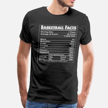 Basketball Facts Basketball Facts shirt - Men's Premium T-Shirt