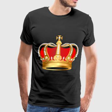 crown red5 - Men's Premium T-Shirt