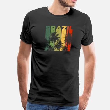 Brazil Retro Brazil Beach Vacation Merchandise - Men's Premium T-Shirt