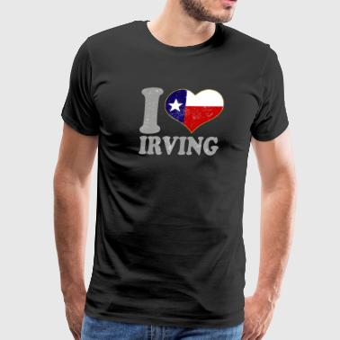 I heart Irving Texas Flag Texan State Pride - Men's Premium T-Shirt