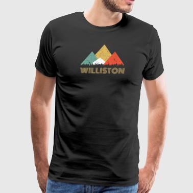 Mountains Retro City of Williston Mountain Shirt - Men's Premium T-Shirt