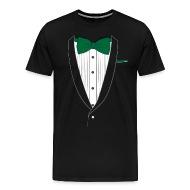 Men with Green Tie Shirt Dress
