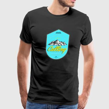 The Mountains are Calling and I must go Tee - Men's Premium T-Shirt