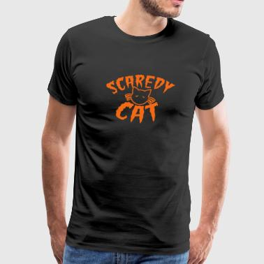 Cute kitty scaredy cat! for Halloween - Men's Premium T-Shirt