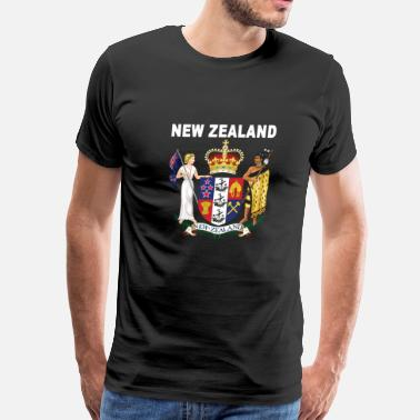 New Zealand Tribal New Zealand coat of arms national design - Men's Premium T-Shirt
