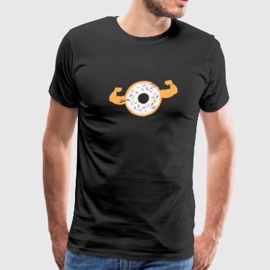 Muscle Dad Muscle Donut Funny Dad Fitness Shirt - Men's Premium T-Shirt