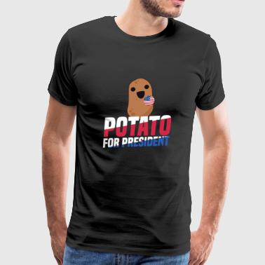 Potato For President Funny Trump Election 2020 - Men's Premium T-Shirt