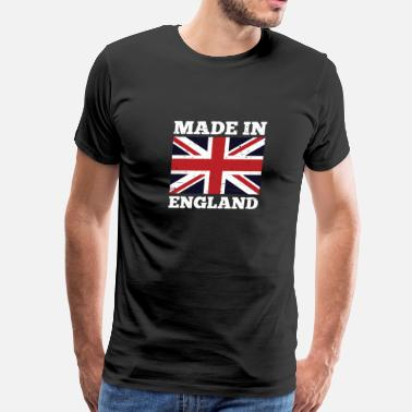 England Made In England Great Britain National Union Jack - Men's Premium T-Shirt