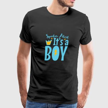 Pregnancy Announcement Spoiler Alert It's A Boy - Men's Premium T-Shirt