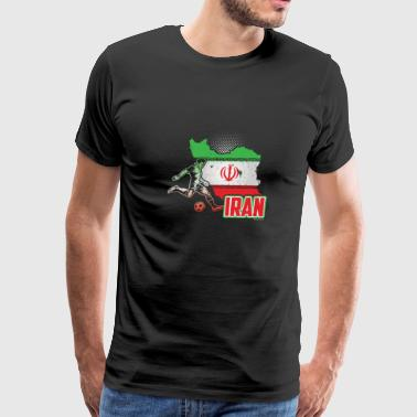 Football Soccer Iran Flag - Men's Premium T-Shirt