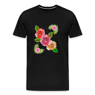 Three Roses Beautiful Cool Gift Idea   Menu0027s Premium T Shirt