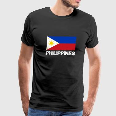 Philippines National Pride Filipino Flag Design - Men's Premium T-Shirt