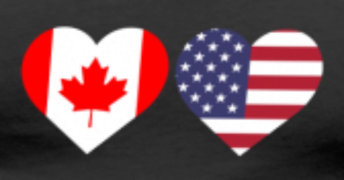 canada american flag heart canadian maple leaf by freshdressedtees