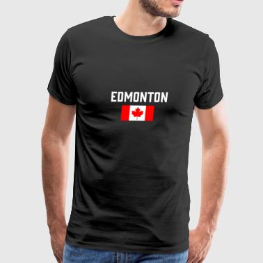 Edmonton Canada Flag Alberta Capital Canadian - Men's Premium T-Shirt