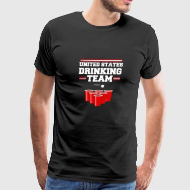 United States Drinking Team USA Design - Men's Premium T-Shirt