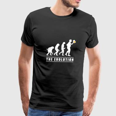 Funny Beer Design The Human Evolution (Gift for Dad) - Men's Premium T-Shirt