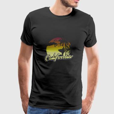 California Vintage Retro 70s Surf - Men's Premium T-Shirt