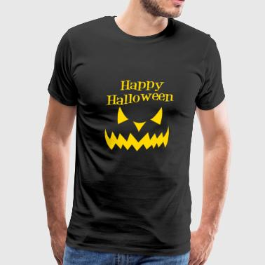 Happy Halloween - evil smile - Men's Premium T-Shirt