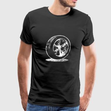 car tire fuel speed oldtimer - Men's Premium T-Shirt