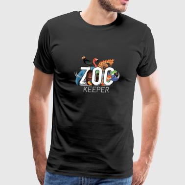 Zoo Keeper Animal Exotic Gift Idea Birthday - Men's Premium T-Shirt
