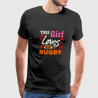 This Girl Loves Rugby - Men's Premium T-Shirt